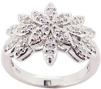 Кольцо Серебро 925 Цирконы класса ААА (BS42) Размер 17 - ОПТ