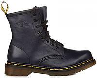 Женские ботинки Dr. Martens 1460 Navy Smooth VEGAN Доктор Мартинс синие 74b9873f0b1a8