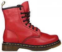 Женские ботинки Dr. Martens 1460 Cherry Red Smooth VEGAN Доктор Мартинс  красные 0912951dc2b85