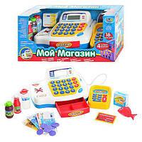 Игровой набор магазин кассовый аппарат 4 функции, аксессуары, звук, свет, русский язык