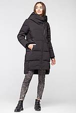 Удлиненная зимняя женская куртка BTF-1883 - черная, фото 2