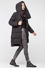 Удлиненная зимняя женская куртка BTF-1883 - черная, фото 3