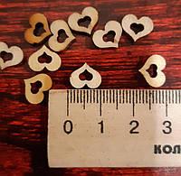Сердечки деревянные -10 шт.
