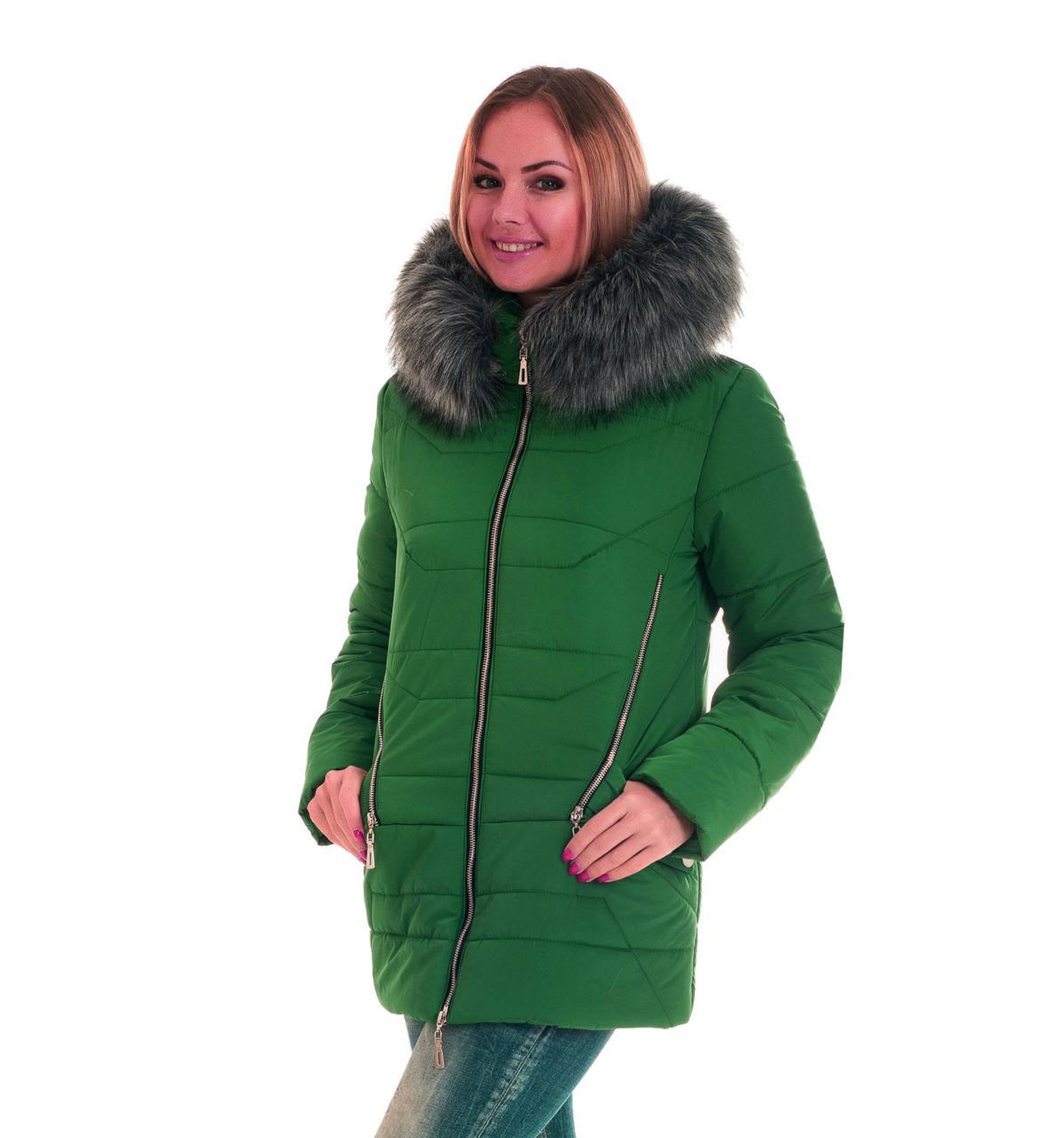 Курточка женская на силиконе с мехом
