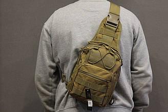 Однолямочный городской рюкзак Silver Knight на 9 литров с системой M.O.L.L.E Coyote (098 песок)