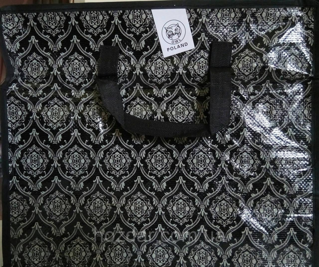 Господарська сумка поліпропіленова горизонтальна №2 (Орнамент)