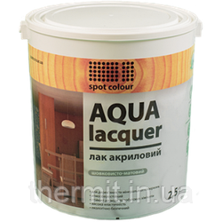 Лак универсальный акриловый полуглянец Aqua Lacquer 2.5л
