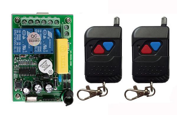 Беспроводной пульт дистанционного управления 220V на 2 реле и 2 пульта