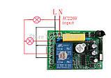 Бездротовий пульт дистанційного керування 220V на 2 реле і 1 пульт, фото 3