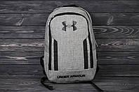Рюкзак в стиле Under Armour Original, цвет - серый, материал - полиестер+коттон. Код товара AA-R0552