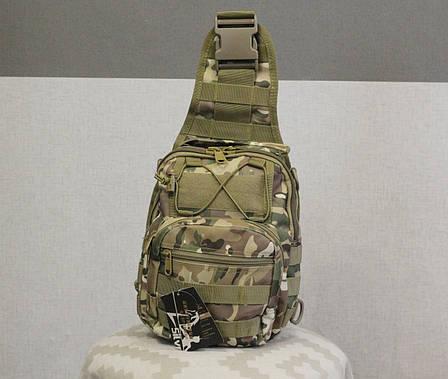 Тактический - штурмовой универсальный рюкзак Silver Knight на 9 литров с системой M.O.L.L.E Multicam (098 mul), фото 2