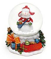 """Снежный/водяной шар """"Снеговик"""" 9см(6шт.в упаковке)"""