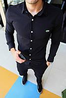 Мужская рубашка Lacoste - очень приятная, мягкая к телу - приталенный крой - 100% коттон Размеры: S-XXL, фото 1