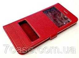 Чехол книжка с окошками momax для iPhone 7 Plus красный
