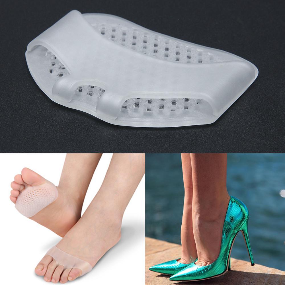 Силиконовые дышащие подушечки под дистальный отдел стопы, с фиксацией на пальце, комплект 2шт (1пара)