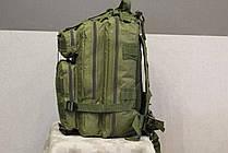 Тактический (городской) рюкзак Oxford 600D с системой M.O.L.L.E Olive (ta25 олива) , фото 3