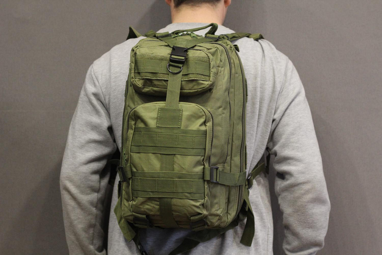 Тактический (городской) рюкзак Oxford 600D с системой M.O.L.L.E Olive (ta25 олива)