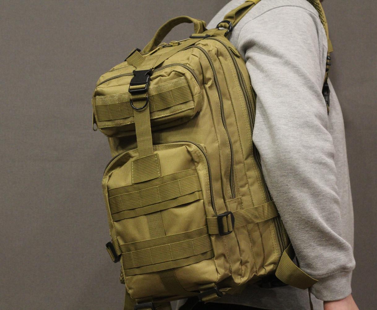 Тактический (городской) рюкзак Oxford 600D с системой M.O.L.L.E coyote (ta25 coyote)