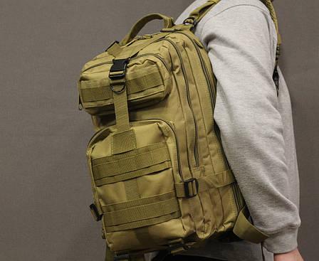 Тактический (городской) рюкзак Oxford 600D с системой M.O.L.L.E coyote (ta25 coyote) , фото 2