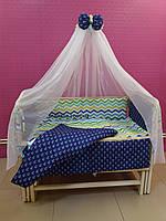 Комплект детского постельного белья Якоря и Волны 8 ед Bepino