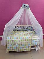 Комплект детского постельного белья Совы и Сердца 8 ед Bepino