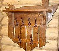 Вішак вінтажний під старину дерев'яний № 2