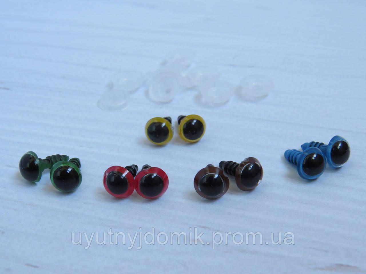 глаза болтики для игрушек цветные 8 мм материалы для изготовления