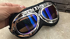 Мото очки хамелеон классические ретро под шлем каску, фото 2
