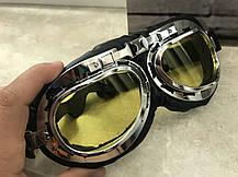 Мото очки хамелеон классические ретро под шлем каску, фото 3