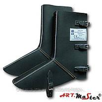 Наголенники с защитой для ног NGNS1 черного цвета ARTMAS