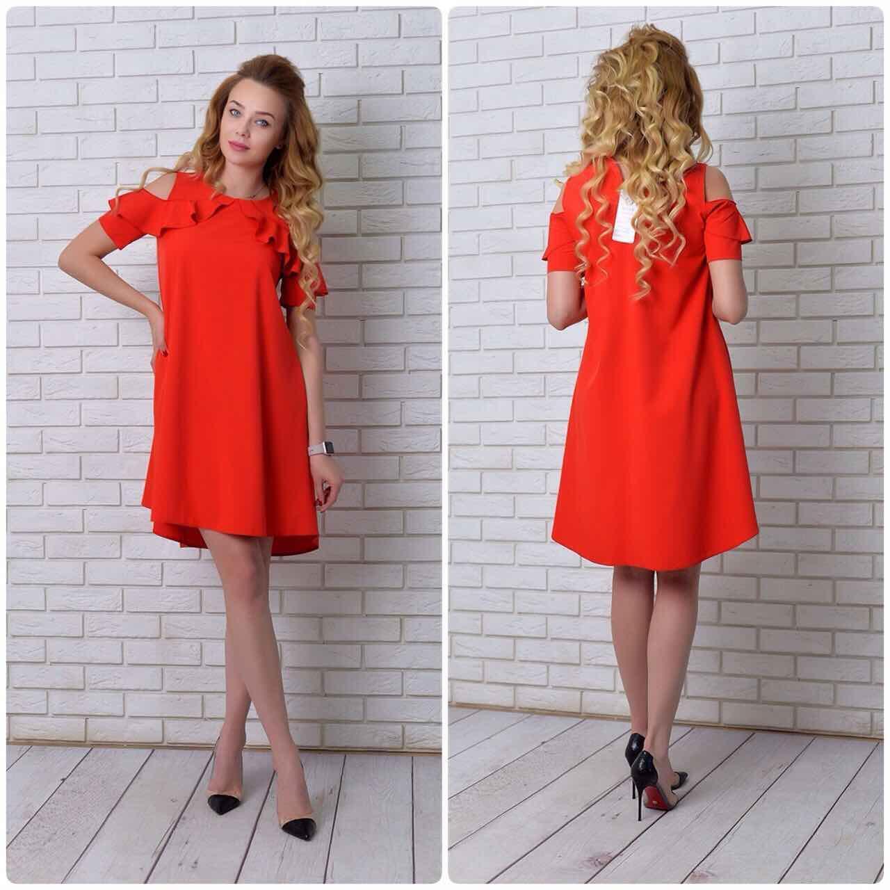 9b576fec6e2 Платье арт. 785 алое - Интернет магазин женской одежды Khan в Одессе