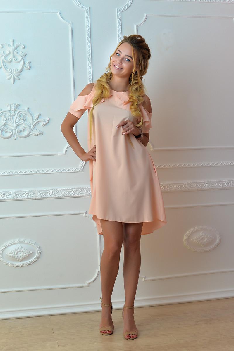 Платье  арт. 785 персиковое