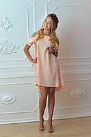 Платье  арт. 785 персиковое, фото 1