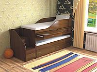 """Двухъярусная кровать """"Пара премиум"""" лесной орех"""