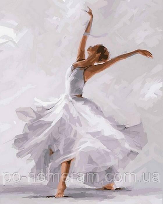 картина з фарбами балерина