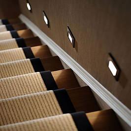 Светодиодная подсветка ступеней лестниц