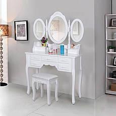Туалетный столик белый + табурет, фото 2