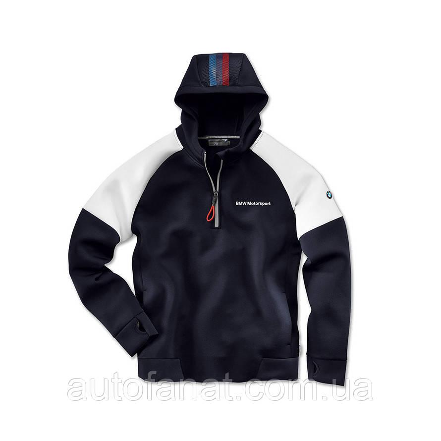 Оригинальная мужская толстовка BMW Motorsport Hoodie, Men, Blue/White (80142446436)