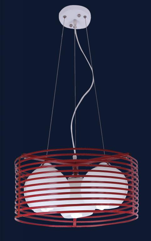 Красная подвесная люстра 7079800-3 КРАСНЫЙ