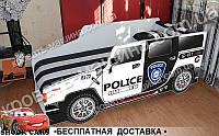 Кровать машина ХАММЕР ПОЛИЦИЯ 1700х800