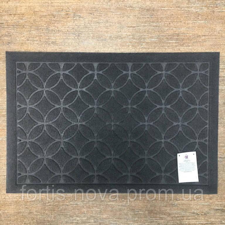 Грязезащитный ворсовый коврик, прямоугольный на резиновой основе