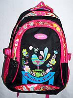 Женский школьный рюкзак Weideli 31*45 см (черный с розовым)