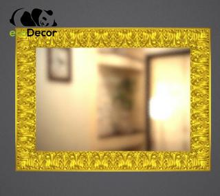 Зеркало настенное Lucknow в золотой раме