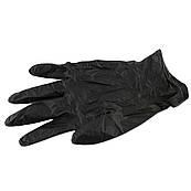 Перчатки нитриловые для кондитера черные (размер L) 1 шт