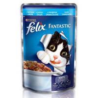 Корм коты Феликс фантастик кусочки в желе с индейкой 100гр