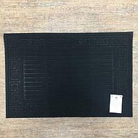Коврик для входной двери, прямоугольный, из полиэстера на резиновой основе.