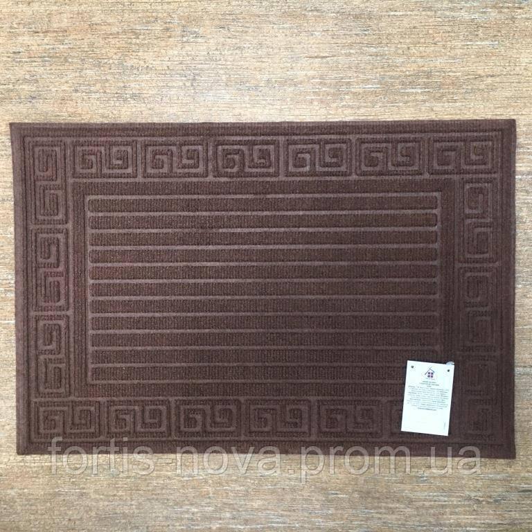 Грязезащитный коврик, прямоугольный, из полиэстера на резиновой основе.