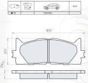 Колодки тормозные передние Intelli D115E для Toyota Camry 40
