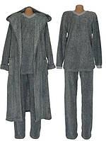 NEW! Мужские махровые наборы /пижама и халат/ Grafite Melange ТМ УКРТРИКОТАЖ!