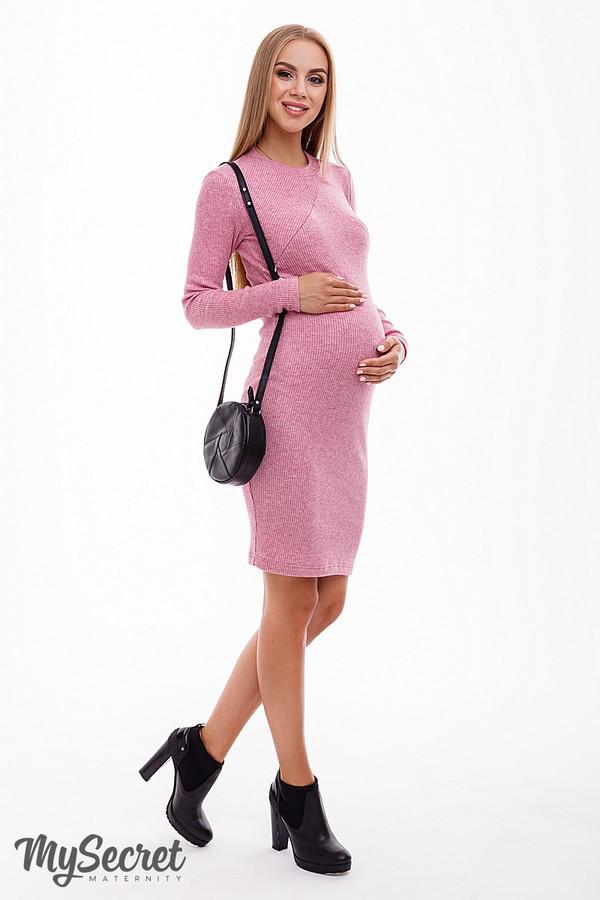 Платье для беременных и кормящих MARIKA DR-48.153, розовый меланж